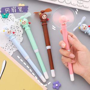 korean new cute  fashion mini  fan gel pen creative student signature pen portable portable hand-held cute small fan NHZE222731