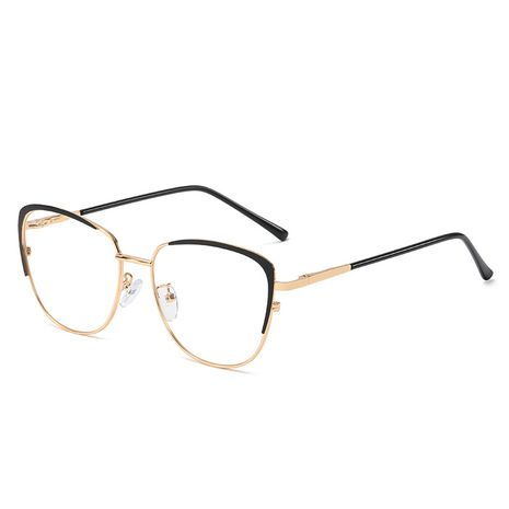 New fashion simple hot selling metal flat mirror female comfortable spring legs can be customized anti-blue glasses frame nihaojewelry wholesale NHFY222741's discount tags