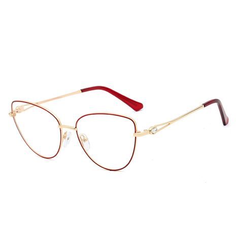 new  fashion simple metal flat mirror female diamond craft comfortable glasses nihaojewelry wholesale NHFY222742's discount tags