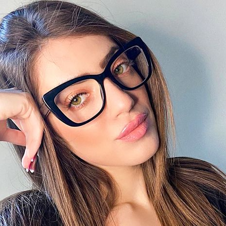 hot sale fashion new simple  TR90 flat mirror female CP ferrule comfort glasses nihaojewelry wholesale NHFY222743's discount tags