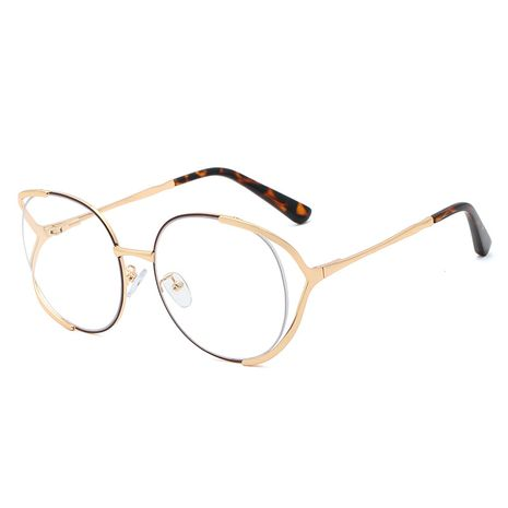 trend new fashion simple  metal flat mirror female comfortable spring legs  hot sale frame anti-UV glasses nihaojewelry wholesale NHFY222744's discount tags