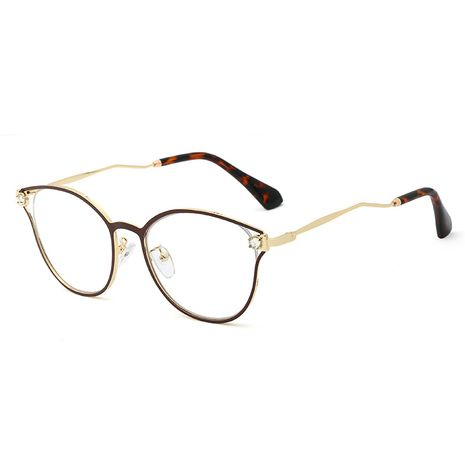 fashion new simple  trend  metal flat mirror female diamond craft mirror glasses  wholesale NHFY222745's discount tags