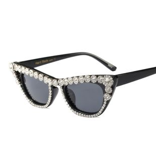 mode nouveau simple luxe strass lunettes de soleil lunettes de soleil tendance lunettes de soleil nihaojewelry gros NHFY222749's discount tags