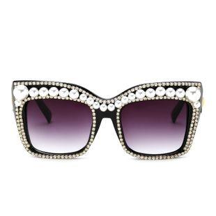 New  fashion Pearl Rhinestone Sunglasses Fashion Box Sunglasses Women Sunglasses nihaojewelry wholesale NHFY222756's discount tags