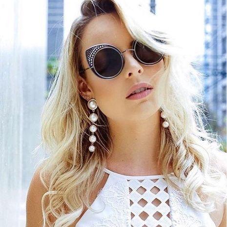 New Fashion Rivet Sunglasses Cat Eye Metal Studded Sunglasses Glasses Lady Sunglasses Wholesale NHFY222758's discount tags