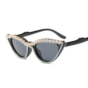 fashion  new simple exquisite small frame rhinestone luxury trend  sunglasses nihaojewelry wholesale NHFY222761's discount tags
