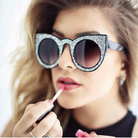 fashion  newbig frame cat eye sunglasses luxury rhinestone  cool female sunglasses nihaojewelry wholesale NHFY222765's discount tags