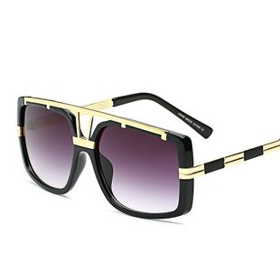 fashion new simple  glasses fashion metal frame big frame men and women sunglasses wholesale NHFY222777's discount tags