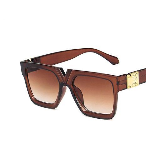 Gafas de sol cuadradas en forma de V con puente en la nariz nueva moda retro gafas de sol street shot gafas de sol nihaojewelry al por mayor NHKD222788's discount tags