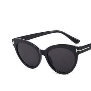 T-shaped cat eye sunglasses triangle round frame  new retro sunglasses  nihaojewelry wholesale NHKD222814's discount tags