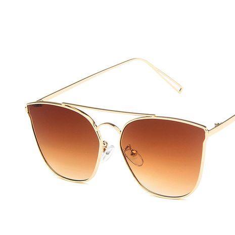 Gafas de sol de metal de doble haz nuevas gafas de sol de tendencia salvaje retro nihaojewelry al por mayor NHKD222802's discount tags