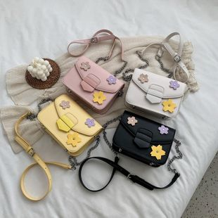 new fashion cute  foreign chain lock chain shoulder small square bag female simple wild casual flower crossbody bag nihaojewelry wholesale NHPB222936's discount tags