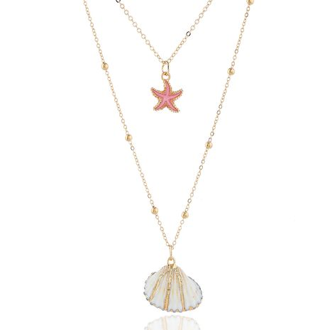 moda metal simple concha accesorios doble temperamento personalidad collar venta al por mayor niihaojewelry NHSC223409's discount tags