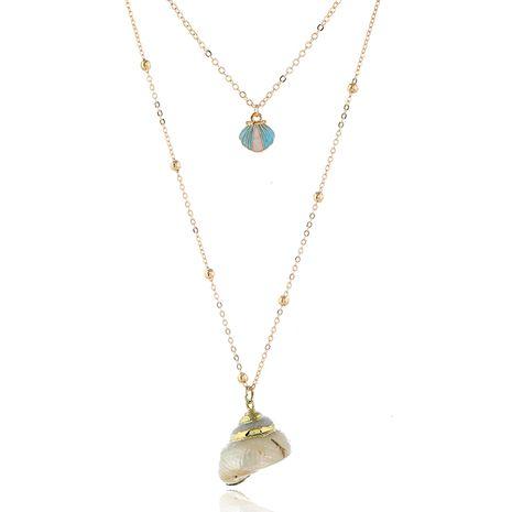 moda metal simple concha accesorios doble temperamento personalidad collar venta al por mayor niihaojewelry NHSC223403's discount tags