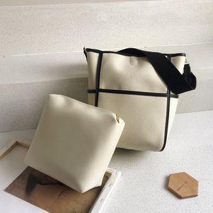 Sac seau en toile nouveau sac pour femme à la mode coréenne mode casual grande capacité sac à main sac à bandoulière nihaojewelry gros NHGA223019's discount tags