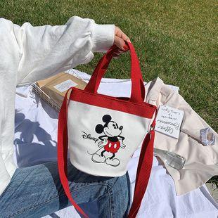 Moda lindo nuevo bolso de lona de las mujeres Corea lindo bolso de dibujos animados  Mouse cubo bolsa nihaojewelry al por mayor NHGA223021's discount tags
