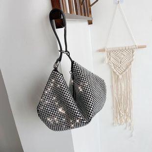 nouvelle mode simple sac strass sac à main flash percer plein diamant sac avec diamant plein diamant incrusté sac nihaojewelry en gros NHGA223022's discount tags