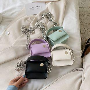 mini sac nouvelle mode coréenne simple vague mode femme sac messager sac chaîne portable petit sac carré nihaojewelry en gros NHGA223029's discount tags