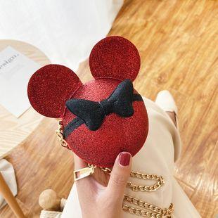 Nuevo coreano lindo bolso de cabeza de ratón bolso femenino bolso de cadena de moda hombro hombro teléfono móvil monedero nihaojewelry al por mayor NHGA223043's discount tags