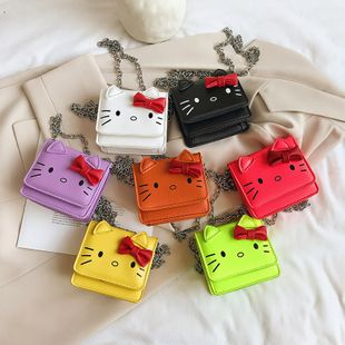 Bolso de hombro para niños nuevo bolso femenino lindo arco gato princesa bolso monedero monedero bolsa de mensajero nihaojewelry al por mayor NHGA223044's discount tags
