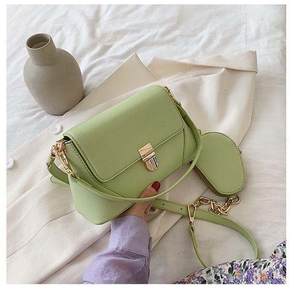 Small bag women bag  simple Korean fashion solid color  new wave  wild chain shoulder messenger bag fashion texture baguette nihaojewelry wholesale NHTC223052