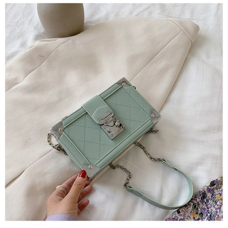 nouvelle mode coréenne simple vente chaude vague coréenne sauvage messager petit sac chaîne sac petit frais mode petit sac carré nihaojewelry en gros NHTC223076's discount tags