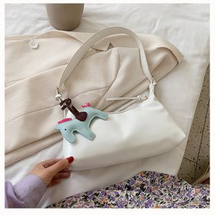 small bag new trendy fashion popular female bag wild shoulder milk tea color armpit bag nihaojewelry wholesale NHTC223121's discount tags