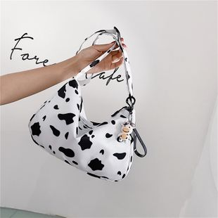 cute fashion new  cow canvas underarm bag  Korean wild  shoulder messenger bag nihaojewelry wholesale NHXC223142's discount tags