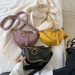 nouvelle vague coréenne mode crocodile motif bandoulière sac à bandoulière femme étranger sauvage sauvage couleur portable poitrine sac nihaojewelry en gros NHPB223163's discount tags