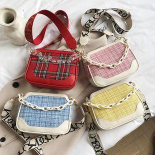 mode coréen sauvage plaid large épaule épaule messenger sac nouvelle vague rétro chaîne portable aisselle sac nihaojewelry en gros NHPB223167's discount tags