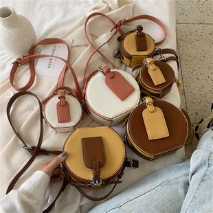 new trendy fashion wild hit color crossbody bag female retro personality casual portable small round bag nihaojewelry wholesale NHPB223178's discount tags