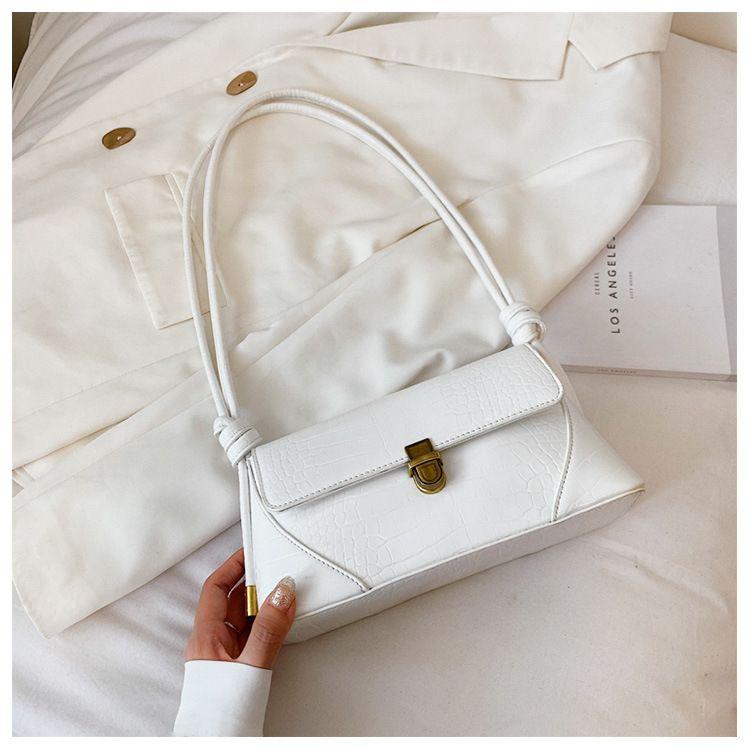 Highgrade bag women bag  popular new wave  fashion crocodile pattern shoulder wild allmatch simple underarm bag nihaojewelry wholesale NHTC223189