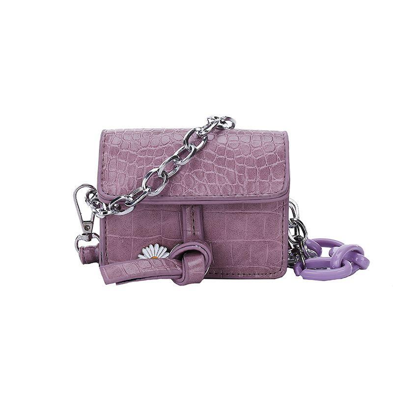 Korean fashion new  girly crocodile pattern mini bag  trendy fashion niche mini crossbody shoulder bag nihaojewelry wholesale NHXC223214