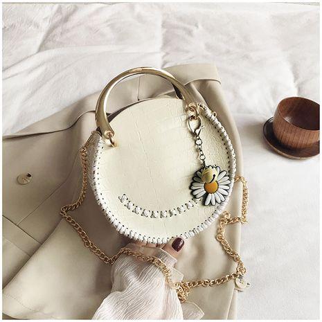 Été petit sac frais femme populaire nouvelle vague coréenne sauvage une épaule bandoulière mode portable petit sac rond nihaojewelry en gros NHTC223221's discount tags