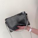 new wave Korean fashion oneshoulder messenger baguette chain sequin armpit bag handbag nihaojewelry wholesale NHXC223236