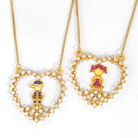 nouveaux accessoires diamant garçon fille couple collier ras du cou collier bijoux populaires en gros nihaojewelry NHAS223273's discount tags