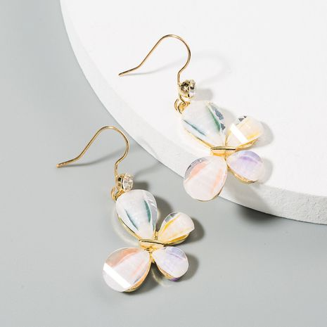 South Korea's new high-quality color butterfly earrings alloy long temperament earrings wholesale nihaojewelry NHLN223282's discount tags