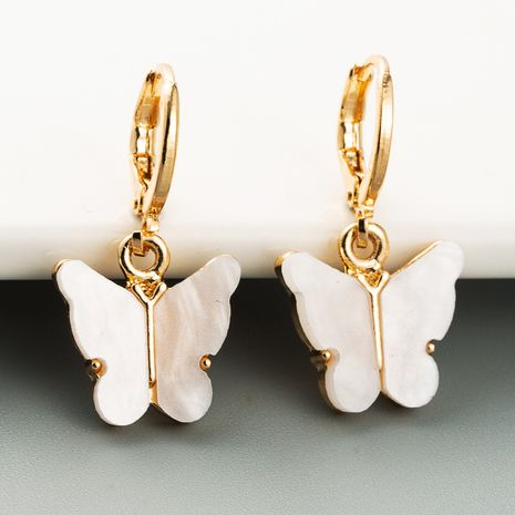 South Korea shell butterfly earring  niche earring  wild wholesale nihaojewelry NHLN223286's discount tags