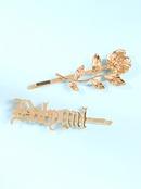 nouveaux accessoires pour cheveux cratif alliage fleur lettre mot clip vent pingle  cheveux en gros niihaojewelry NHMD223291
