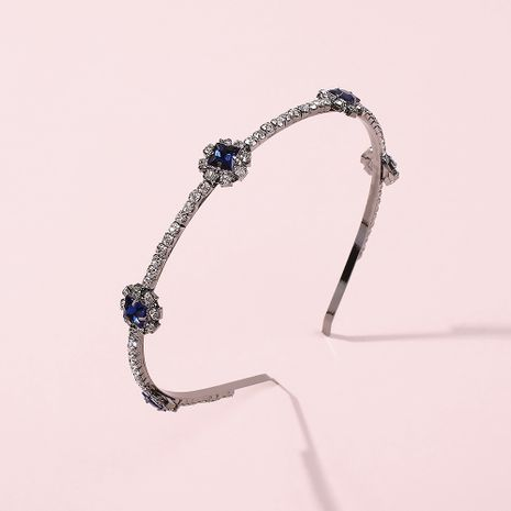 fashion trend new retro blue diamond hair band hot-selling personality wild bride hair accessories wholesale niihaojewelry NHMD223294's discount tags