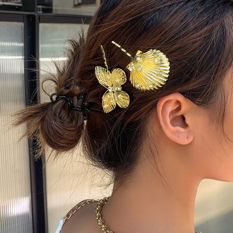 new vacation style word clip metal hair clip creative fashion butterfly flower side clip hair accessories wholesale niihaojewelry NHMD223295's discount tags