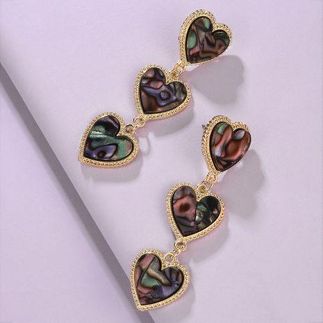 créative nouvelle mode géométrique boucles d'oreilles en résine personnalité couture boucles d'oreilles en alliage en gros nihaojewelry NHMD223317's discount tags