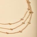 mode nouvelle mode multicouche ronde collier de perles chane de cou  la main multicouche pendentif collier chane de perles en gros nihaojewelry NHGY223321