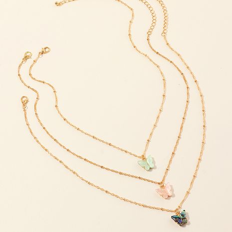 mode tempérament papillon acrylique pendentif ormeau coquille papillon collier ensemble en gros nihaojewelry NHNZ223336's discount tags