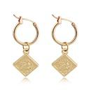 fashion retro cute square beauty head small pendant hoop earring simple geometric queen head ear ring ear buckle wholesale nihaojewelry NHGO223340