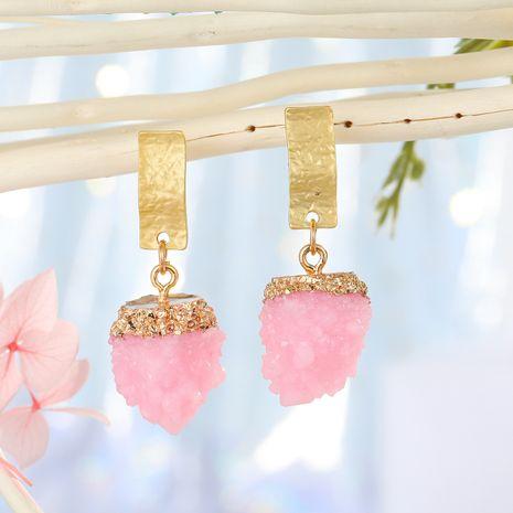Bijoux coréens imitation boucles d'oreilles en pierre naturelle boucles d'oreilles boule de bayberry boucles d'oreilles en résine boule de fleur de glace en gros nihaojewelry NHGO223342's discount tags