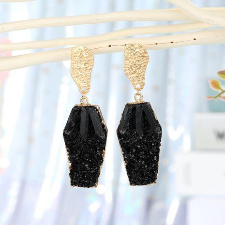 bijoux de mode cristal colonne boucles d'oreilles coréenne résine boucles d'oreilles géométrique longue section imitation pierre naturelle boucles d'oreilles en gros nihaojewelry NHGO223356's discount tags