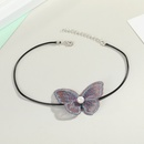 Korea Butterfly Fairy Pearl Necklace Collar Short Color Lace Butterfly Necklace Clavicle Chain Jewelry wholesale nihaojewelry NHGO223357