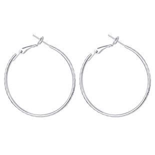 S925 silver needle hypoallergenic earrings simple wave pattern big ring ear buckle ear ring hot sale wholesale nihaojewelry NHGO223367's discount tags