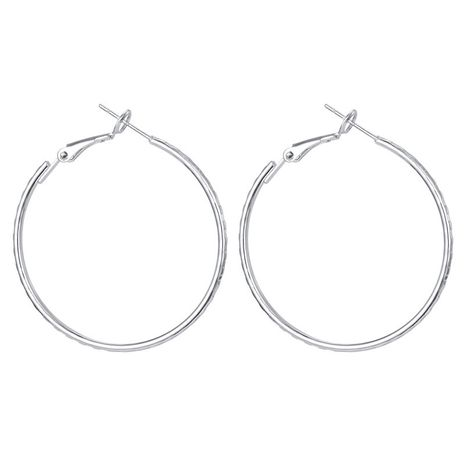 S925 silver needle hypoallergenic earrings simple wave pattern big ring ear buckle ear ring hot sale wholesale nihaojewelry NHGO223367's discount tags